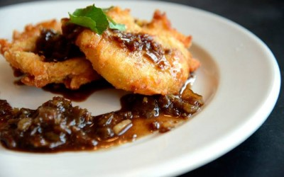 Plums Restaurant | Fried Green Tomato |  Locally Grown Wine Dinner | Beaufort Restaurants