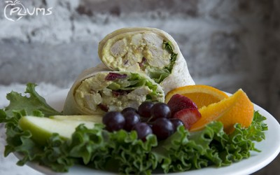 Plums Restaurant Chicken Curry Wrap | Beaufort SC Restaurants