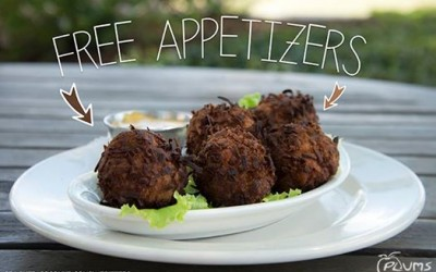 Plums Restaurant | Cracked Coconut Conch Fritters | Beaufort Restaurants