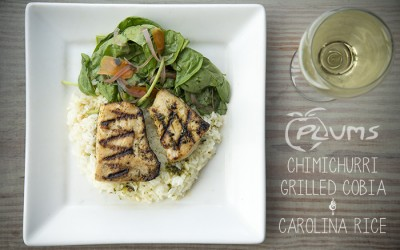 Chimichurri Grilled Cobia | Plums Restaurant | photo by The Lills Design | Beaufort Restaurants