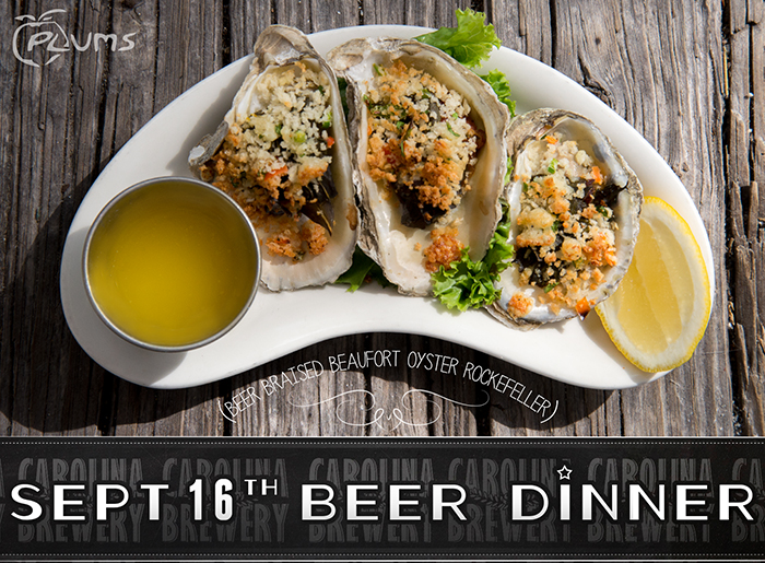 BEER DINNER At Plums Restaurant – September 16th